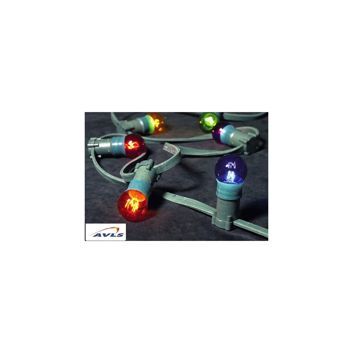 Guirlande lumineuse exterieur 9 m avec lampe avls paris for Guirlande exterieur led