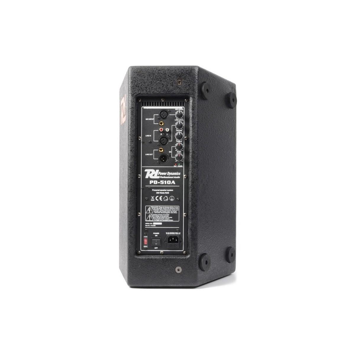 PD-510A Enceinte amplifiée 210 W 10 Pouces